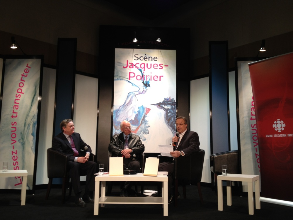 Pelletier and Laplante debate the future of Québec in Canada at le Salon du livre de l'Outaouais, Feb 28, 2013